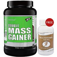 Medisys Double Mass Gainer -Chocolate 1.5kg Free Multivitamin