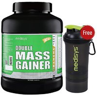Medisys Double Mass Gainer - Banana - 3Kg Free-Shaker