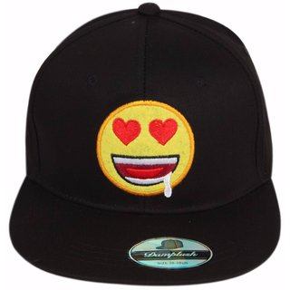 ILU Black Smiley men women girls boys Caps/ Snapback Cap/ Baseball Caps/ Hiphop cap