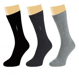 Arjay Mens Formal Socks 3 Pair-Classic-P2
