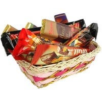 Imported Mix Assorted 6Pcs. Chocolate Bar With Basket Gift Pack