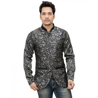 Nu Abc Garments Black Design Blazer for Mens