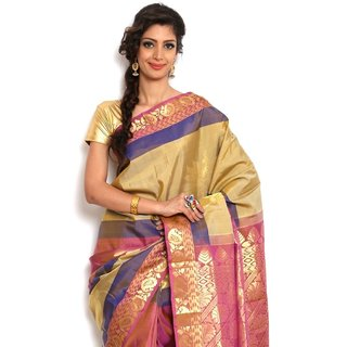 Sudarshan Silks Latest Multi-Color Silk Kanchipuram Saree