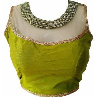 Mastani Green Cotton Stitched Blouse