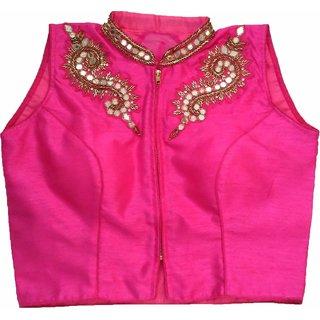 Mastani Pink Cotton Stitched Blouse