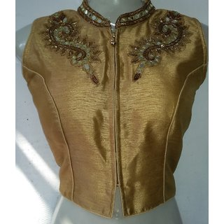 Mastani Gold Cotton Stitched Blouse