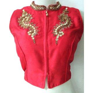 Mastani Red Cotton Stitched Blouse