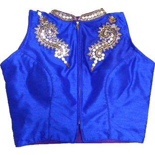 Mastani Blue Cotton Stitched Blouse