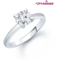 MEENAZ VERCONIA RHODIUM PLATED CZ  RING  FR126