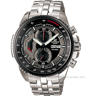 CASIO EDIFICE EF-558D-1AV BLACK GREY DIAL SPORTS CHRONOGRAPH MENS WATCH-100% NEW