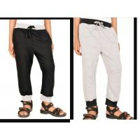 Pack Of 2 Ribbed Solid Boy's Black, Grey Track Pants