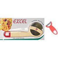 Combo Of Pizza Cutter 1 Pcs With Sigma Kitchen Accessories Swift Peeler 1 Pcs.