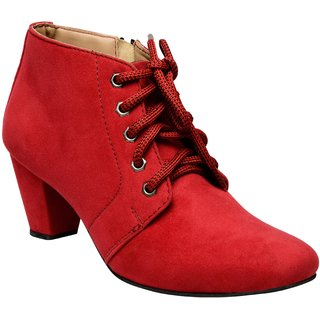 Exotique Womens Red Casual Boot (EL00340RD)