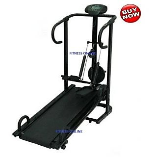 BRANDED LIFELINE4 IN 1 MANUAL TREADMILL JOGGER 1 YR WRTY HOME GYM available at ShopClues for Rs.10828