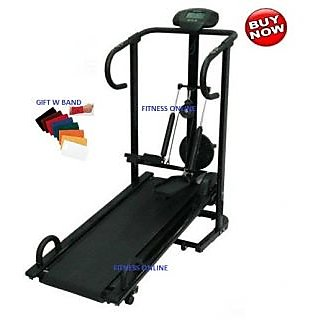 BRANDED LIFELINE 4 IN 1 MANUAL TREADMILL JOGGER 1 YR WRTY HOME GYM+ W BAND available at ShopClues for Rs.10819