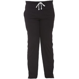 Vimal Black Cotton Blended Trackpant For Girls