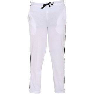 Vimal White Cotton Blended Trackpant For Girls