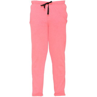 Vimal Peach Cotton Blended Trackpant For Girls