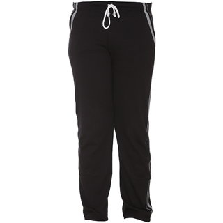 Vimal Black Cotton Blended Trackpant For Girls