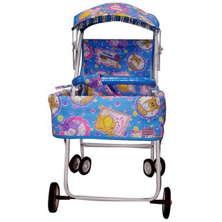 Abasr Blue Metal Frame With PVC Baby Strollers