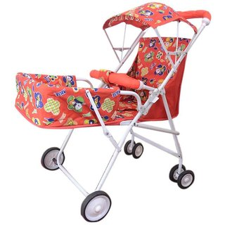 Abasr Red Foldable Baby Stroller