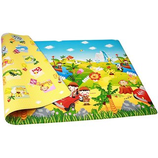 Double Sided Baby Crawl & Play Mat Carpet - Water resistant (Color and design may vary)(6ft X 4 ft)