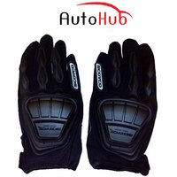 Auto Hub Premium Leatherette Scoyco Biker's Riding Gloves - (MC08)Black (XL)