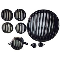 Auto Hub Heavy Plastic Headlight Grill Set for Royal Enfield Classic 350/500