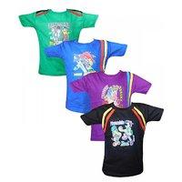 Jisha Fashion Boys (JVB04) Tshirt ( Combo of 4 )