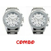 paidu silver combo watches