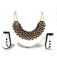 Black Stone Fancy Necklace Set