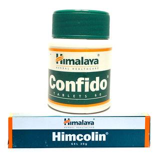 Combo Pack of Himalayas Himcolin Gel 4 Pcs of 30gm Confido Tablet 60s x 5 pcs