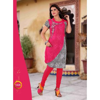 Women  Girls  Ladies Designer Chiffon Kurti  Kurta  Kurtis