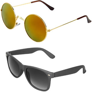 Zyaden Combo of Round And Clubmaster Sunglasses (Combo-186)