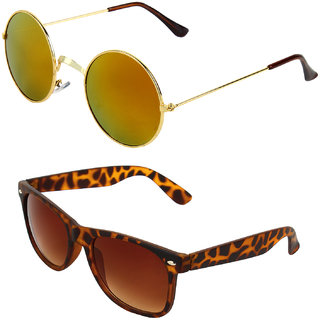 Zyaden Combo of Round And Clubmaster Sunglasses (Combo-188)