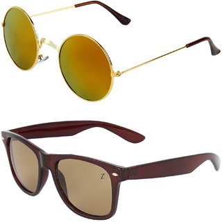 Zyaden Combo of Round And Clubmaster Sunglasses (Combo-190)