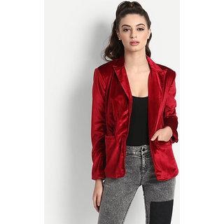 Women's Red Brody Velvet Blazer
