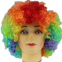 Multicolour Malinga Hair Wig for Party, Cricket Matches, Holi