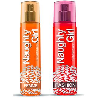 Naughty Girl FEMME FASHION Perfume Combo For Women (1200 Sprays Each)