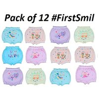 Multicoloured Cartoon Printed Bloomers For Kids Combo of 12