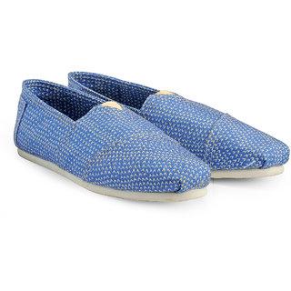 Juan David Men Blue Slip on Casual Shoes