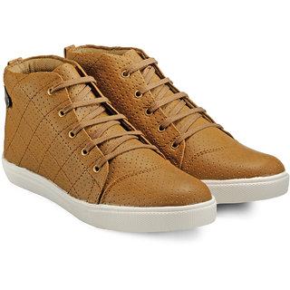 Juan David Men Tan Lace-up Casual Shoes