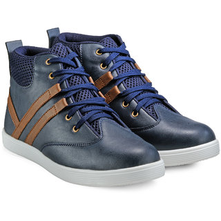 Juan David Men Blue Lace-up Casual Shoes
