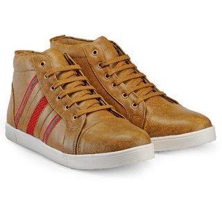 Juan David Men Beige Lace-up Casual Shoes
