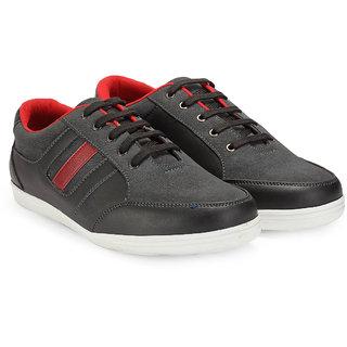 Juan David Men Black Lace-up Casual Shoes