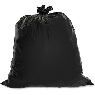 60 Piece Black Polythene Disposable Garbage Bags
