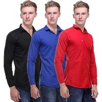 Red Code Multicolour Full Sleeves Casual Shirts For Men (Pack Of 3)