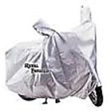 CM-Royal Enfield Bullet Classic,Electra Motorcycle Bike Body Cover Silver Metty