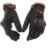 Auto Hub Premium Leatherette Scoyco Biker's Riding Gloves (MC-012) (XL)