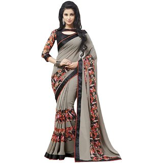 SS Multicolor  Georgette  Graphic Print Saree With Blouse